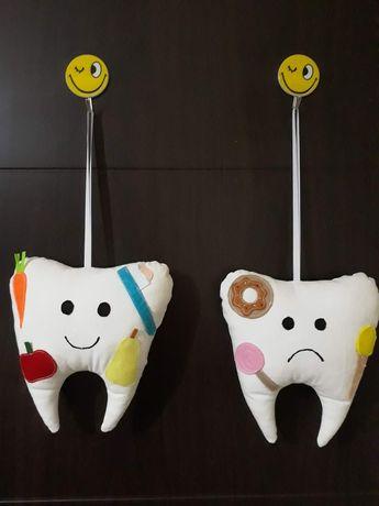 Ръчно изработени зъбки от плат