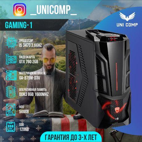 РАССРОЧКА! Игровой компьютер (системный блок) I5 3470 , 8gb, Gtx 760