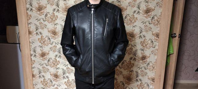 Кожаная куртка белоруская размер 48-50