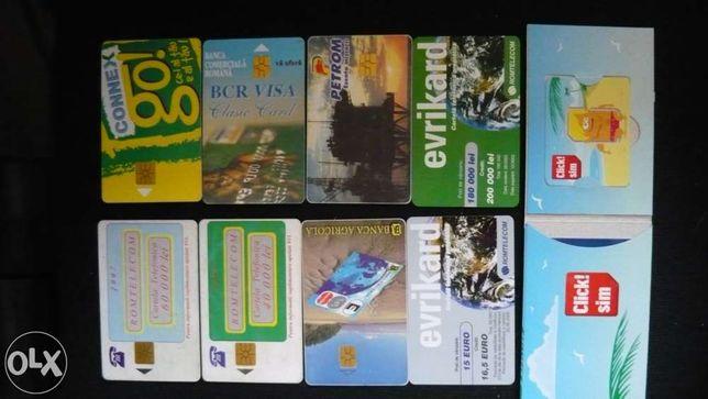 Cartele telefonice, giftcard, carduri bancare etc