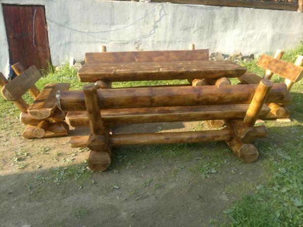 masa rustica pentru 10 persoane