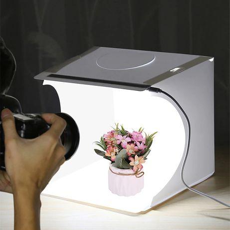 Преносимо Фото студио , Фото кутия с LED панел , Комплект