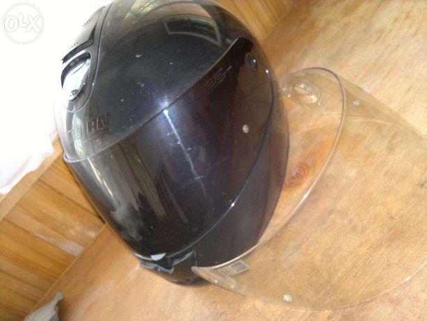 casca moto Nolan N62 neagra cu 2 viziere XL
