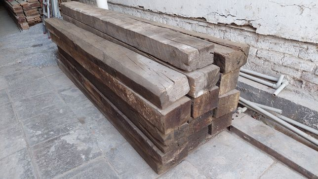 Шпалы деревянные, пропитанные