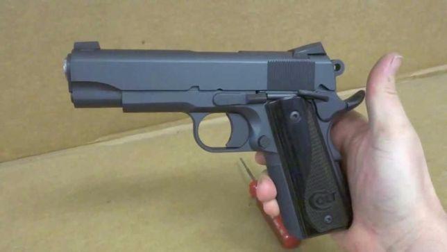 Pistol PUTERNIC(Foarte Bun Manual)ColtM1911metal slide(spring) airsoft
