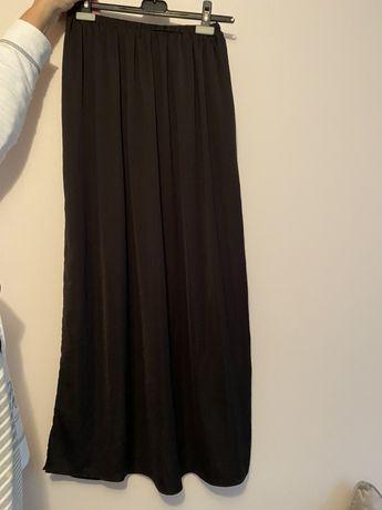 Fusta lunga Zara neagra M din triplu voal