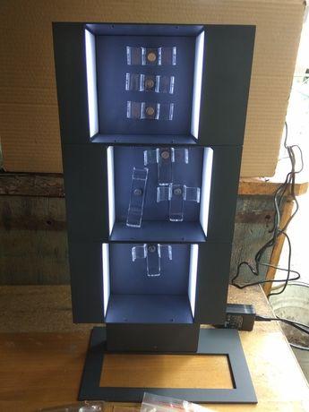 Рекламный стенд из металла с подсветкой с блоком питания