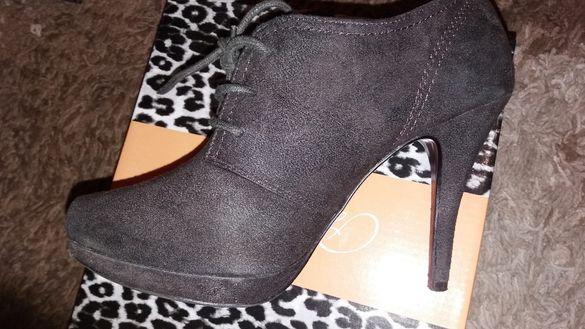 Дамски обувки на висок ток - марка Graceland - велур