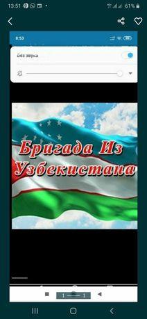 Бригада из Узбекистана Кладка Кровля Крыш Шкатурка Травертин