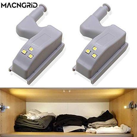 LED лампа за монтиране върху панта на шкаф и други мебели