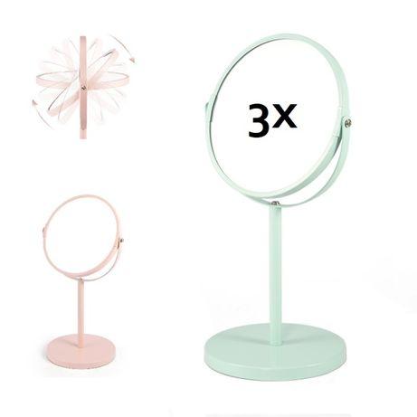 Двулицево козметично огледало с 3 кратно увеличени
