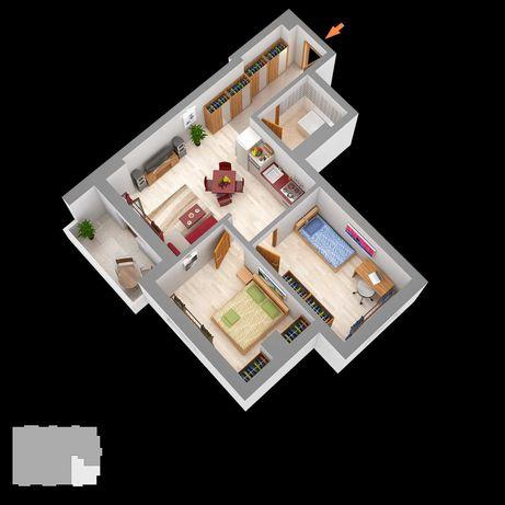 Apartament 3 cam bloc nou Lazar Residence