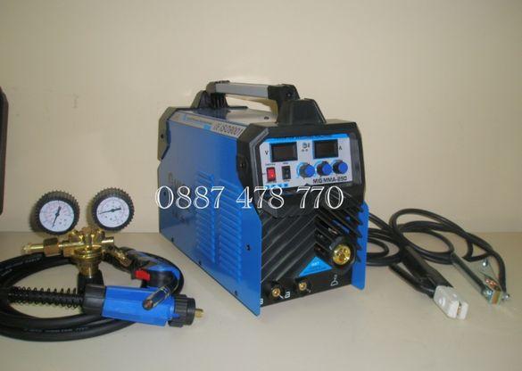 250 Ампера 2 в 1 Телоподаващо с Електрожен модел 2020г