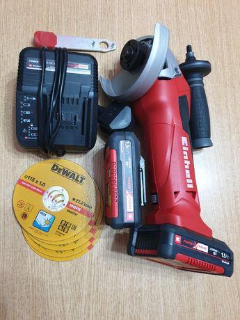 Flex cu 2 baterii si incarcator marca Einhell