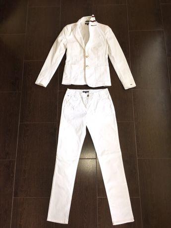 Tommy Hilfiger Tailored сако и панталон, бял цвят, размер 34/XS