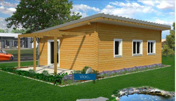 Сглобяеми дървени преместваеми къщи масив 88м2 - дървени бунгала масив