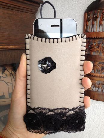 Huse protectie Telefoane, model din piele, produs handmade