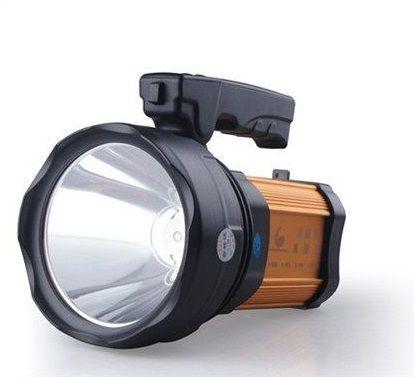 Мощен охранителен фенер DAT 398/ 15W/ 9000 mAh. акумулаторна батерия