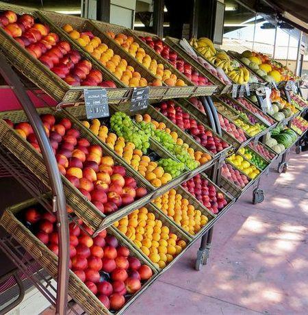 Овощной отдел при магазине
