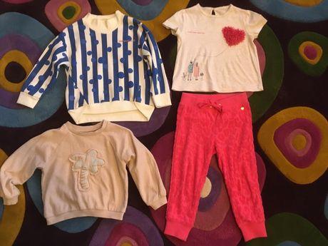 Set fetiță 4 ani 104-110-112 cm bumbac multicolor FUNKY