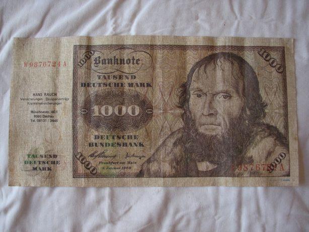 Bancnota 1000 marci germane, decor