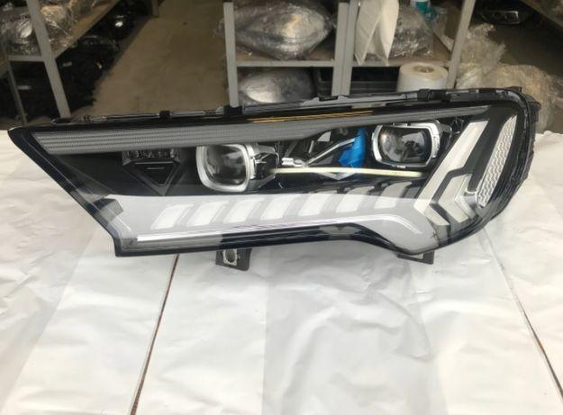 Audi Q7 4M lift set faruri full led laser matrix far stanga dreapta