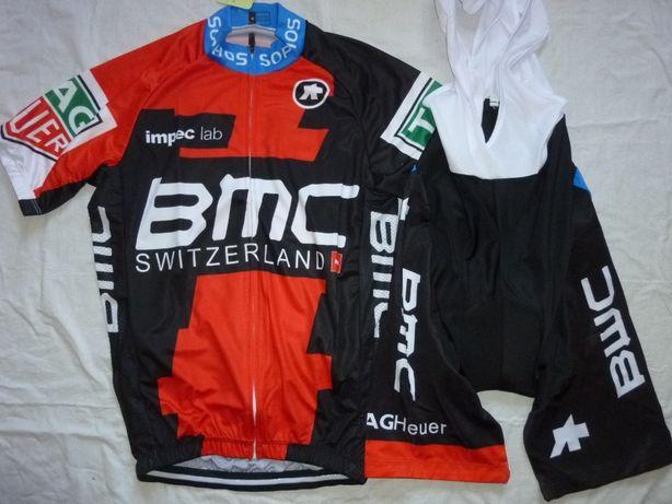 Echipament ciclism BMC 2018 set pantaloni tricou NOU