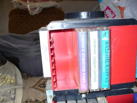 Аудиокасети  с гръцка и диско музика-1 лв/бр. Касетник-10 лв.