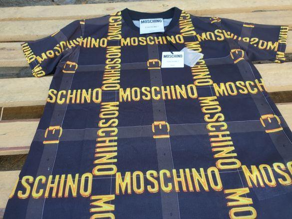 MOSCHINO Belt Logo Print мъжка / дамска тениска size XS