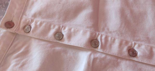 Fusta jeans alba Abercrombie&Fitch