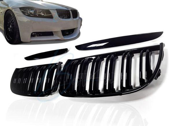 М3 Дизайн Бъбреци/Решетки за BMW E90/E91 (2005-2008) Черни Двойни
