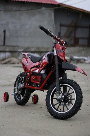 Motocicleta electric pentru copil 3- 9 ani, NITRO Serval 500W #Rosu