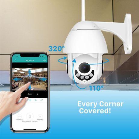 Нов модел- Camera WiFi smart- камера въртяща, външна, 5-MP!