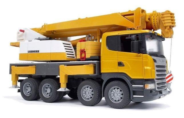 Jucarii Bruder 03570, Camion Bruder cu macara Scania Seria-R Liebherr
