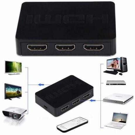 Switch activ 4k sau 1080p hdmi 3porturi in +1out cu telecomanda
