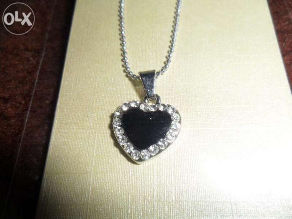 Колие Черно сърце