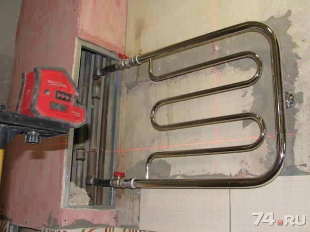 Замена полотенце сушителя, батарей,стояков отопления и водопровода.