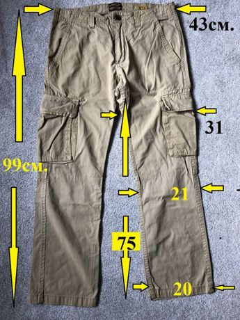 панталони тип cargo нови CATERPILLAR - USA, 100% памук, W32 L30