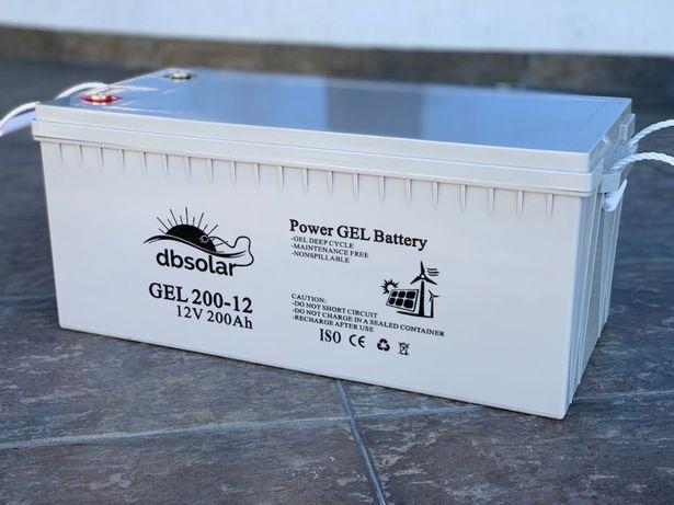 Baterie ACUMULATOR GEL 200Ah AGM panou SOLAR tractiune deepcycle UPS