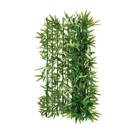 plasa gard, plasa imitatie de gard viu, bambus cu frunze, 300 x 100 cm