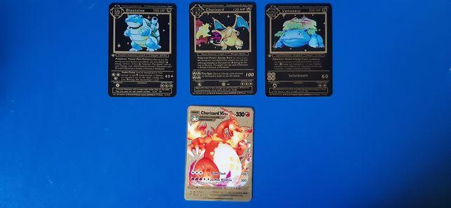 Carte pokemon Charizard Blastoise Venusaur de Metal!