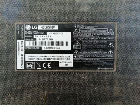 LG model: 43LH510V