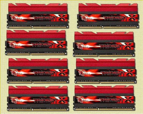 Vand 64 GB DDR3 (8x8GB) G Skill Trident X 2400 MHz Cl10
