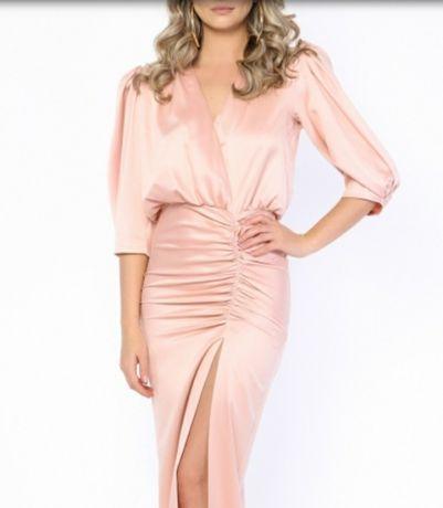 Rochie eleganta/de ocazie roz pudrat