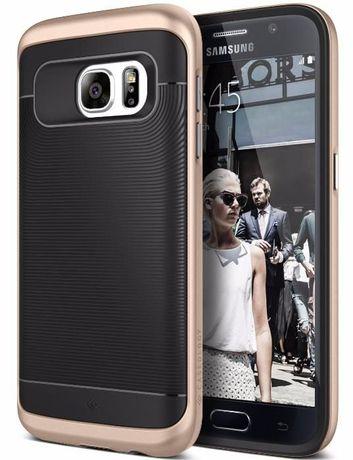 Стилен Кейс Калъф Черен за Samsung Galaxy S7 / S7 Edge CASEOLOGY