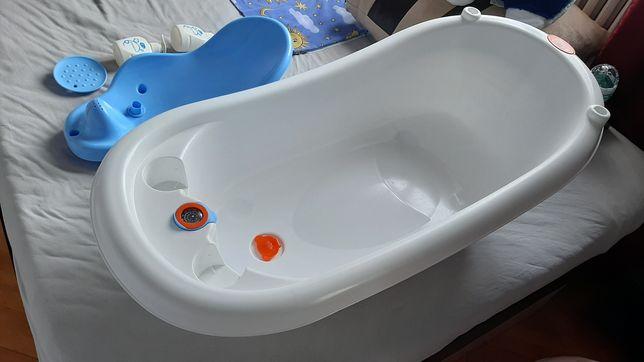 Cadita de baie cu termometru Little Mom Blue