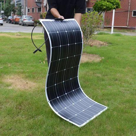 Гъвкав соларен панел 100w кемпер каравана слънчев фотоволтаичен