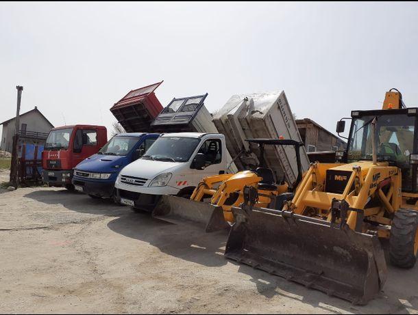 Transport lemne marfa moluz nisip pamant pietris balastru moloz gunoi