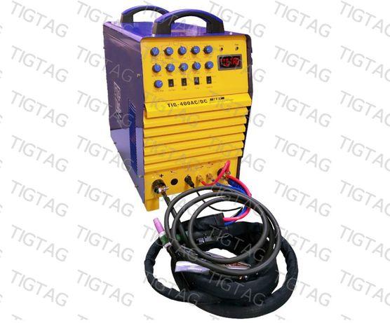 Аргонов апарат ТИГТАГ TIG 400 AC/DC, професионална AC/DC за алуминий