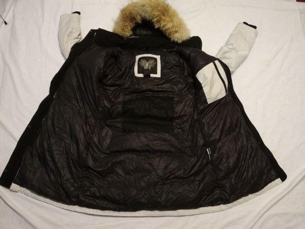 Geaca Parka NOBIS Canada S dama puf pene blana naturala groasa iarna